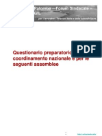 Question a Rio rio Per Il Coordinamento Nazionale e Per