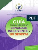 GUIA de Un Lenguaje Influyente y No Sexista
