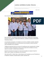 21/05/2018 Fortalecerán propuestas candidatos locales Sylvana Beltrones.
