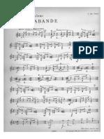 Poulenc - Sarabande