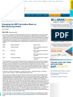 Changing the WIP Calculation Basis on Manufacturing Orders