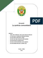 Monografia Policia Comunitaria