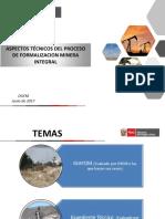 Aspectos Técnicos Del Nuevo Proceso de Formalización Minera Integral 2017