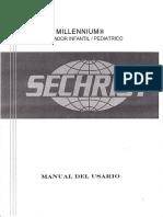 300175506 Ventilador Sechrist Millennium Manual Usuario