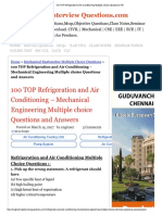100 TOP Refrigeration & Air Conditioning Multiple Choice Questions Pdf.pdf