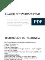 Analisis de Tipo Descriptivo- Avance