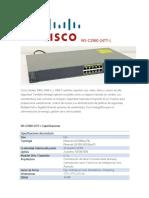 Especificaciones tecnicas WS-c2960 CISCO