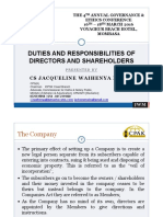 3.0 Duties Responsibilities of Shareholders