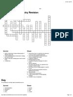 Chemistry Revision Crossword