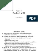 Week 3 Ch 4 Study of IPE