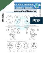 Ficha de Comparamos Los Números Para Primero de Primaria