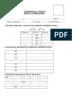 PRUEBA de MATEMATICA 3º Numeros y Operaciones