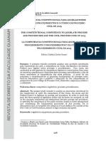A COMPETÊNCIA CONSTITUCIONAL PARA LEGISLAR SOBRE PROCESSO E PROCEDIMENTOS E O CÓDIGO DE PROCESSO CIVIL DE 2015