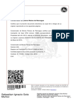 Certificado Dominio Vigente Ojos de Agua y El Manzano