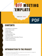 Project Kick Off Meeting Template