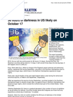 36 Hours of Darkness in US ..