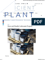 Store and Handle Lubricants Properly - Efficient Plant