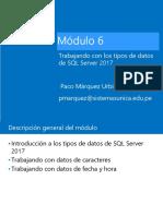 Modulo 6 Trabajando con los tipos de datos de SQL Server 2017.pdf