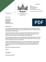 Sen. Pam Jochum's letter to Auditor Mary Mosiman
