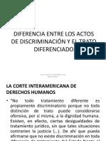 DIFERENCIA ENTRE LOS ACTOS DE DISCRIMINACIÓN Y EL TRATO DIFERENCIADO.pptx