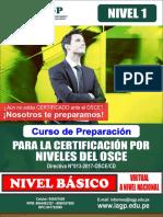Curso de Preparación Para Certificación Por Niveles Del OSCE - Contrataciones Del Estado - Nivel Básico - 1