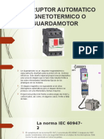 Interruptor Automatico Magnetotermico o Guardamotor