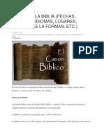 Datos de La Biblia