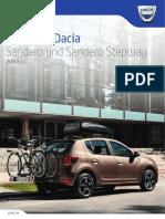Dacia Sandero Zubehoer Broschuere