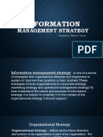 Information Management Strategy REPORT