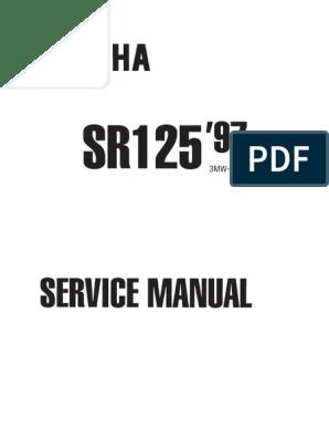 Yamaha SR250 Manual de Servicio Ing