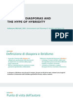 DIFFERENT DIASPORAS AND THE HYPE OF HYBRIDITY.odp