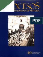 Procesos Revista Ecuatoriana de Historia Num 40 Julio Diciembre 2014 786066