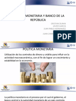 Política Monetaria y Banco de La República