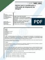 NBR_14842 - Qualificação de Inspetores