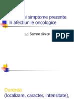 Semne Si Simptome Prezente in Afectiunile Oncologice