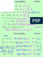 Core1 Solve Quadratics 230910