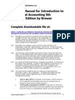 Solution Manual for Introduction to Managerial Accounting 5th Canadian Edition by Brewer