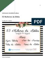 53 Mulheres Da Bíblia _ LisLand _ Lis Daiane