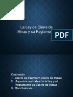 Presentación Cierre de Mina Ley Reglamento