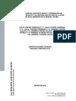 Especificaciones Tecnicas Del Proyecto Planadas