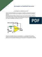 Generador Onda Triangular Con Amplificador Operacional