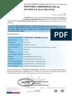 Notificación de Retiro de Mercado Producto Farmacéutico