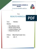4. Resalto Hidraulico