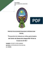 Proyectos de Investigacion e Interaccion Social