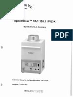 Manual SpeedMixer DAC 150.1 FVZ-K