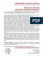 Saludo Por El Día Mundial Del Médico Veterinario 28 de Abril 2018