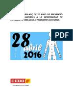 Balanc de Prevencio a La Generalitat2016