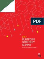 2017 MIT Platform Summit Report