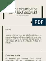 Ley de Creación de Empresas Sociales