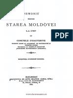 Memoriu asupra starii Moldovei, Comitele D 'Hauterive